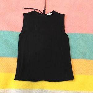 EUC Zara sleeveless sweater with lace up back